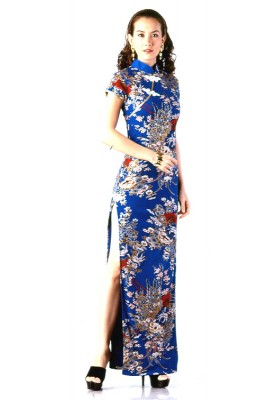 Chinese dress on home dresses chinese dresses blue chinese dress