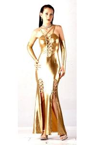 Sexy Gold Metallic Dress