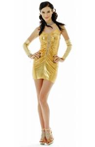 Golden Mini Dress