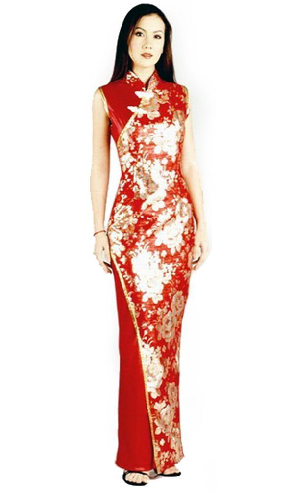 Asian Style Long Dress Cheongsam Qipao Dresses Lionella
