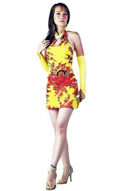Sexy Short Yellow Cheongsam