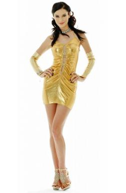Golden Qipao Mini Dress