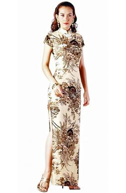 Long Elegant Asian Gown
