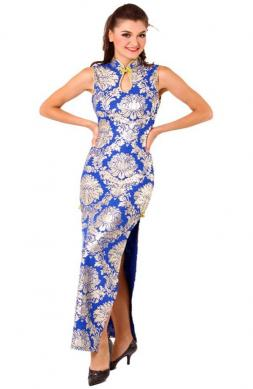 Stylish Blue Cheongsam