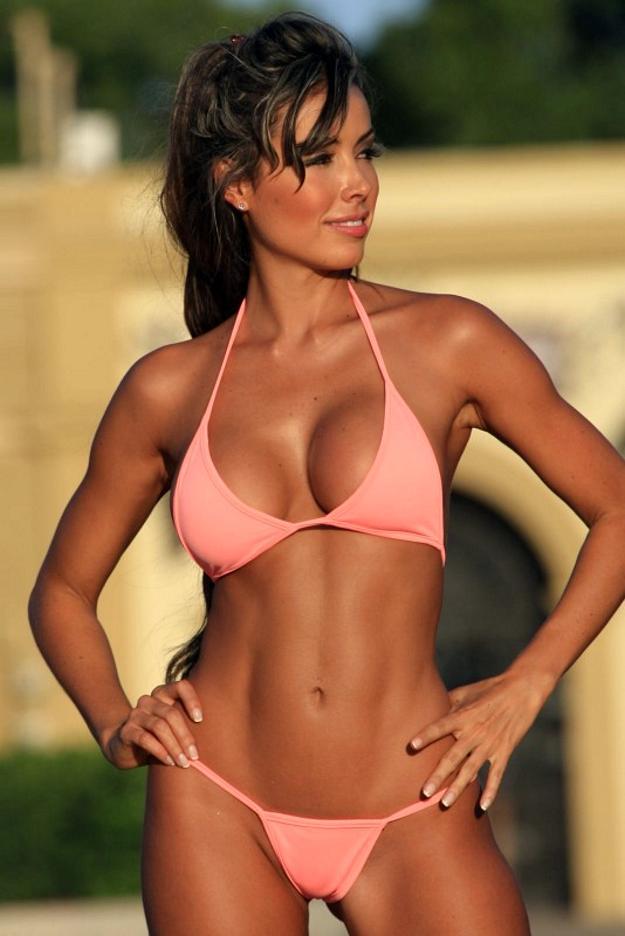 Athletic style bikinis