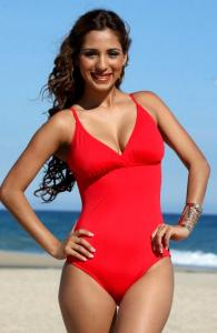 Faddy Red One Piece Swimsuit