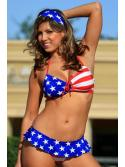Skirted USA Bikini