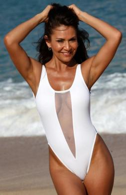 Glamorous White One Piece Swimsuit