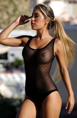 Eye-Catching Sheer One Piece