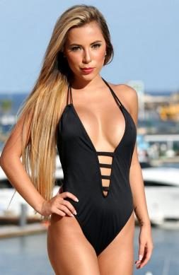 Luxurious Black One Piece