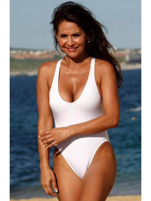 Graceful White One Piece Swimsuit