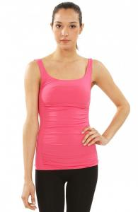 Scoop Neck Side Ribbed Tank Top