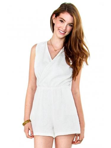 White Crystals Romper