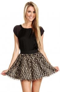 Golden Drops Skirt