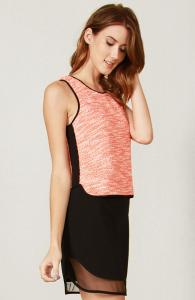 Neon Tweed Top