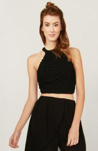 Black Daisy Top
