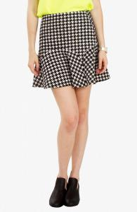 Broken Checks Skirt