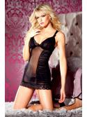 Ruched Mesh Chemise