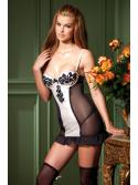 Black   White Cami Suspender