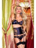 Navy Blue Satin Lingerie Set