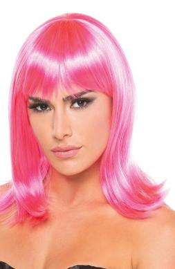 Doll Wig Hot Pink
