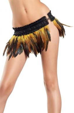Blissful Exotic Feathers Skirt