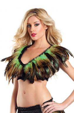 Awesome Exotic Feathers Top
