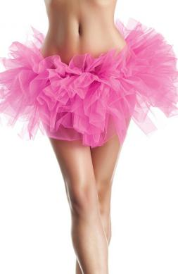 Organza tutu in hot pink
