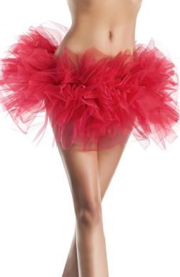 Organza tutu in red