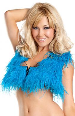 Graceful Ostrich Feather Top