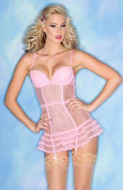Candy Pink Sheer Chemise