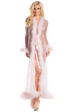 Candy Pink Marabou Robe