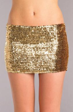 Sequin skirt Gold