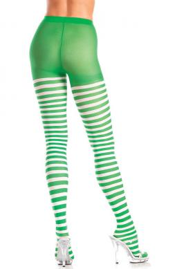 Green and white striped