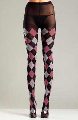 Black and Fuchsia Argyle