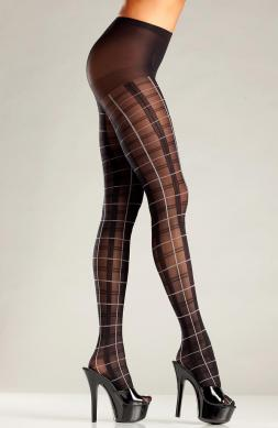 Fun Plaid pantyhose with