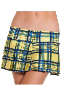 Yellow Plaid Skirt