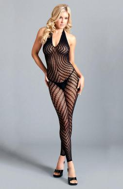Crotchless halter bodystocking