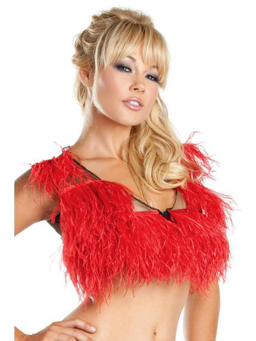 Enticing  Ostrich Feather Top