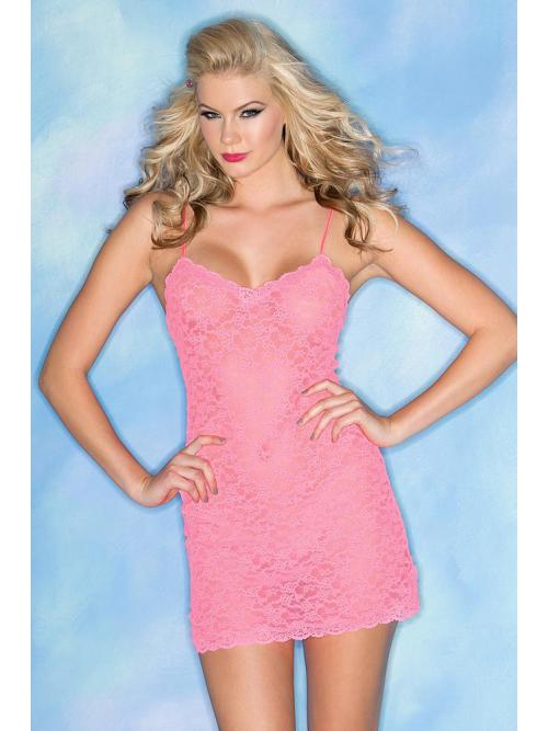 Beautiful 2 Piece Stretchy Lace Chemise