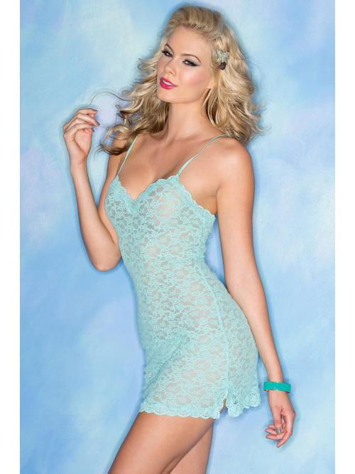 Exuberant 2 Piece Stretchy Lace Chemise