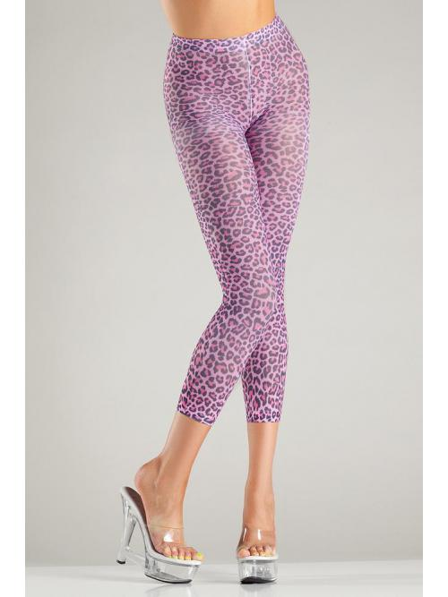 Pink leopard print footless
