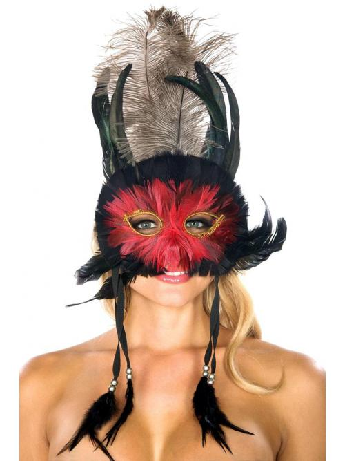 Airy Feather Mask