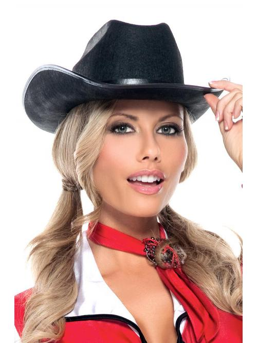 Enchanting Cowgirl Hat Black White