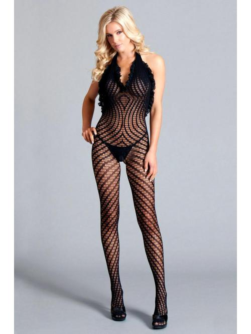Inviting Crotchless halter bodystocking